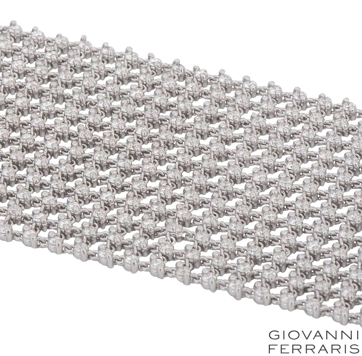 Giovanni Ferraris White Gold Diamond Bracelet